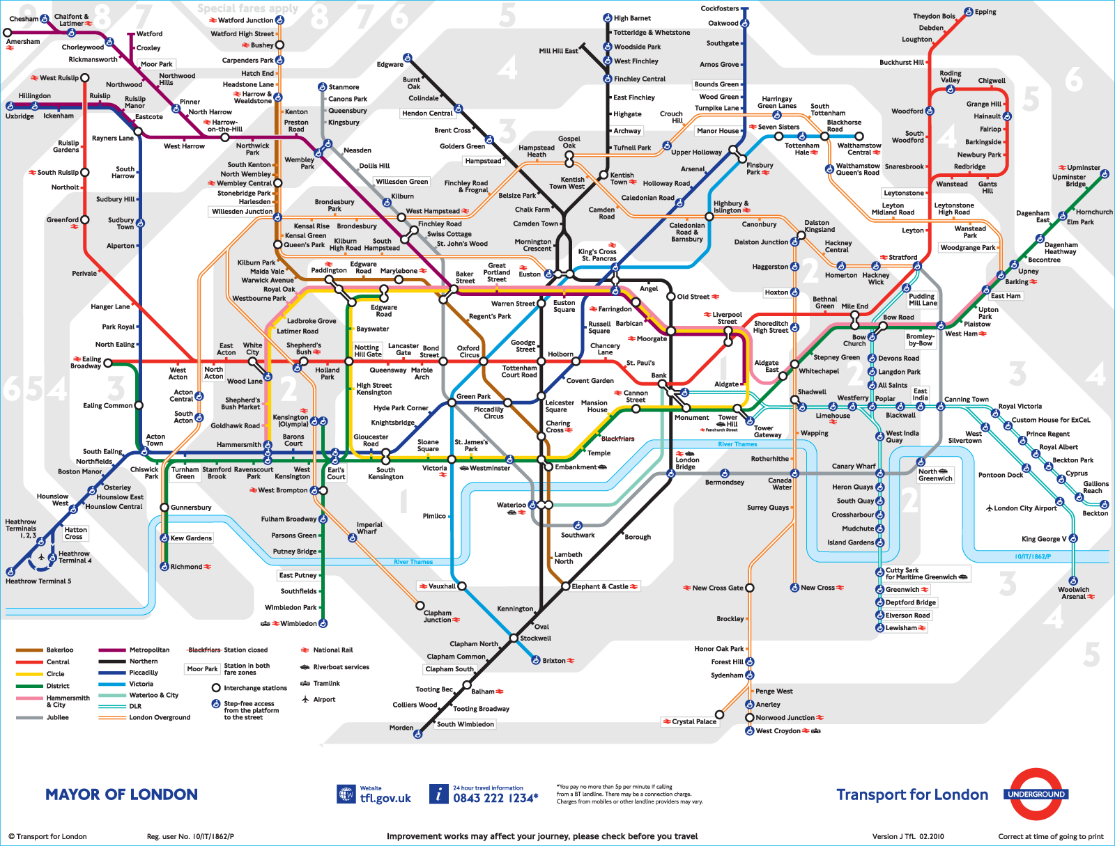 london underground map source tubemapcom